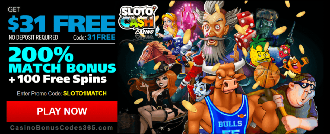 Sloto Cash Casino Exclusive $31 FREE Chip