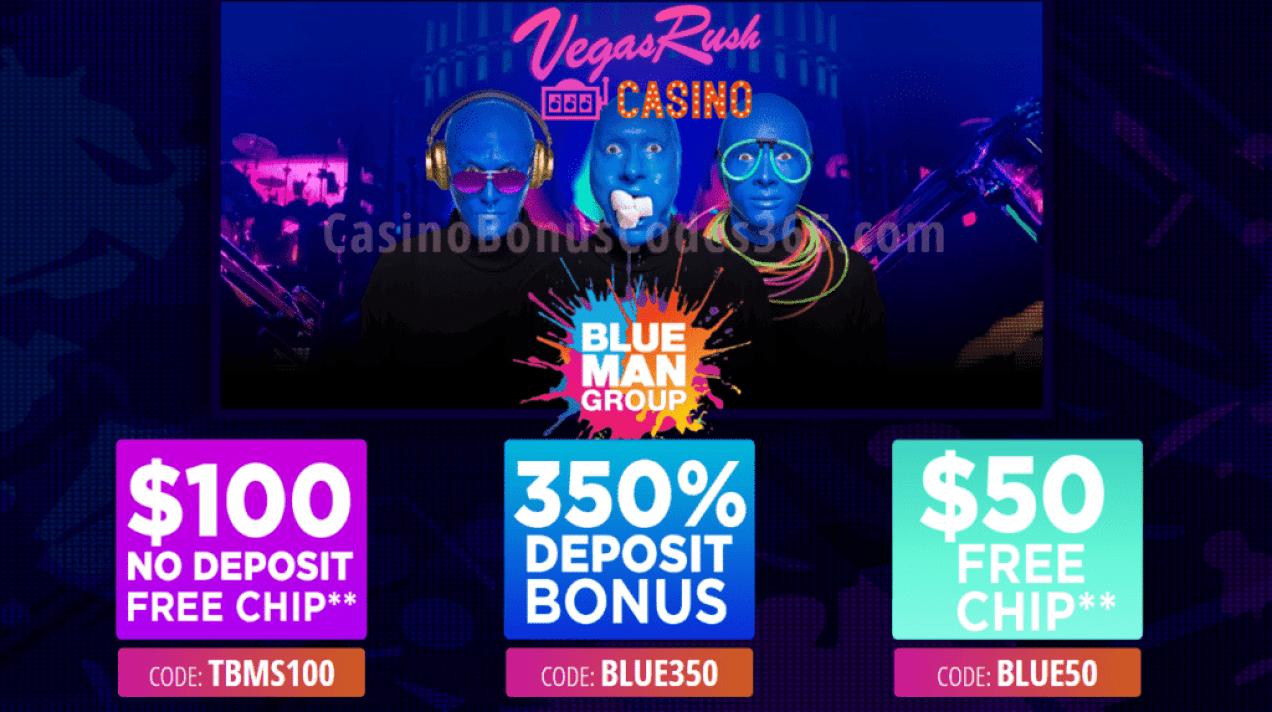 Vegas Rush Casino $150 FREE Chip plus 350% Bonus Special Promo