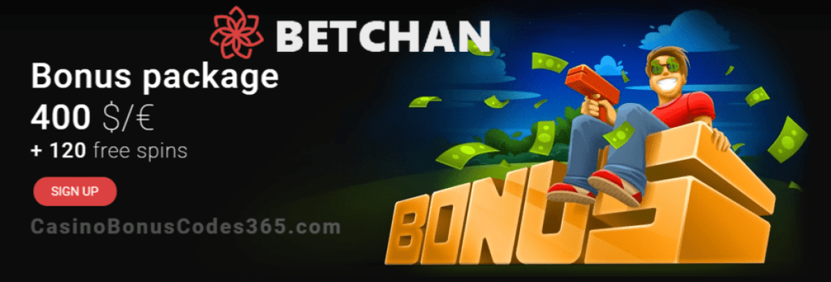 Betchan Casino $400 plus 120 FREE Spins Welcome Package