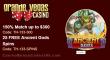 Grande Vegas Casino 150% up to $300 Bonus plus 25 FREE Spins on RTG Ancient Gods Special Promo