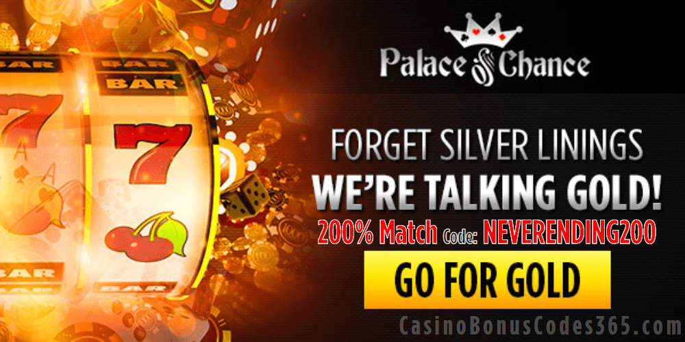 Palace of Chance 200% Match Welcome Bonus