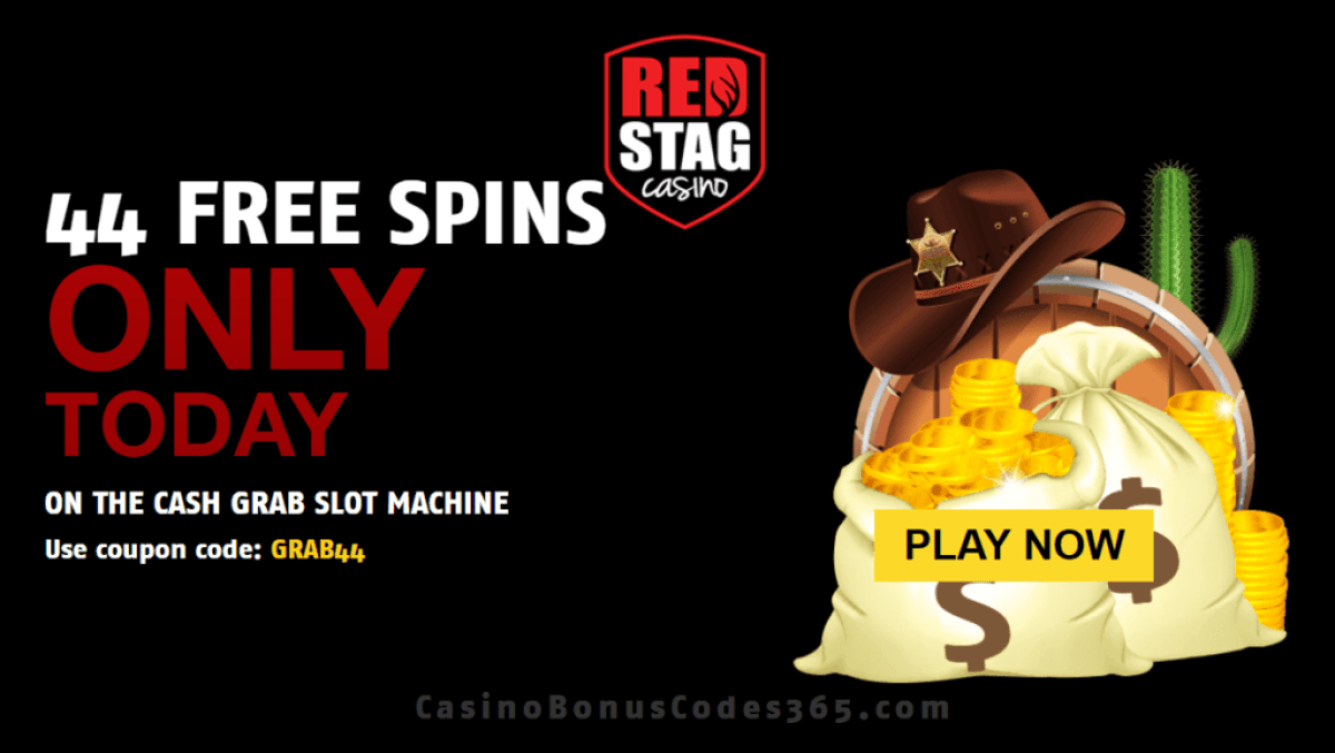 Red Stag Casino 44 FREE Spins on WGS Cash Grab