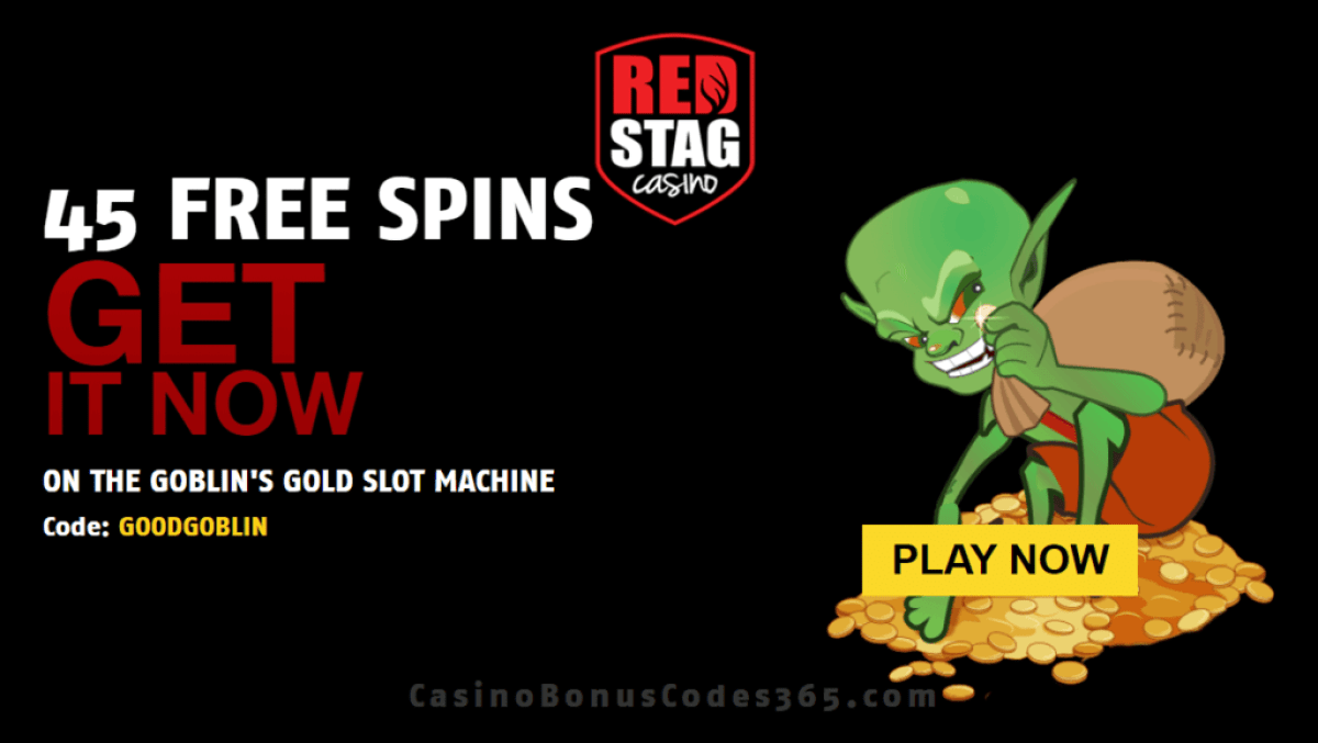 Red Stag Casino 45 FREE WGS Goblin's Gold Spins