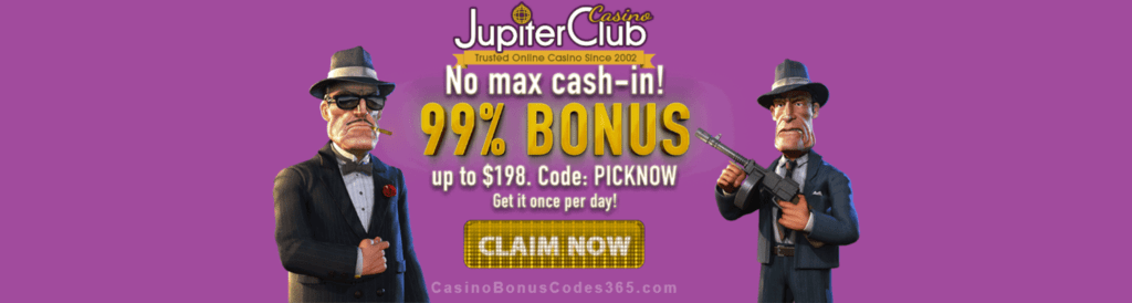 Jupiter Club Casino 99% No Max Bonus