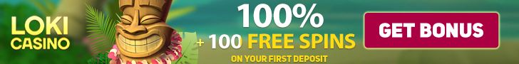 Loki Casino €100 Bonus plus 100 FREE Spins Welcome Package