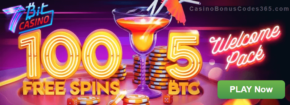 7BitCasino 5BTC plus 100 FREE Spins Welcome Pack