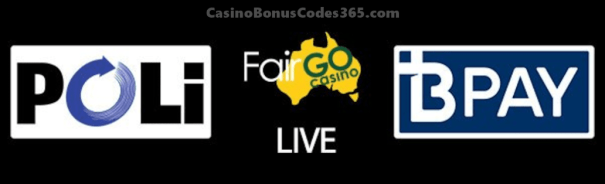 Fair Go Casino POLi and BPAY new Deposit Options