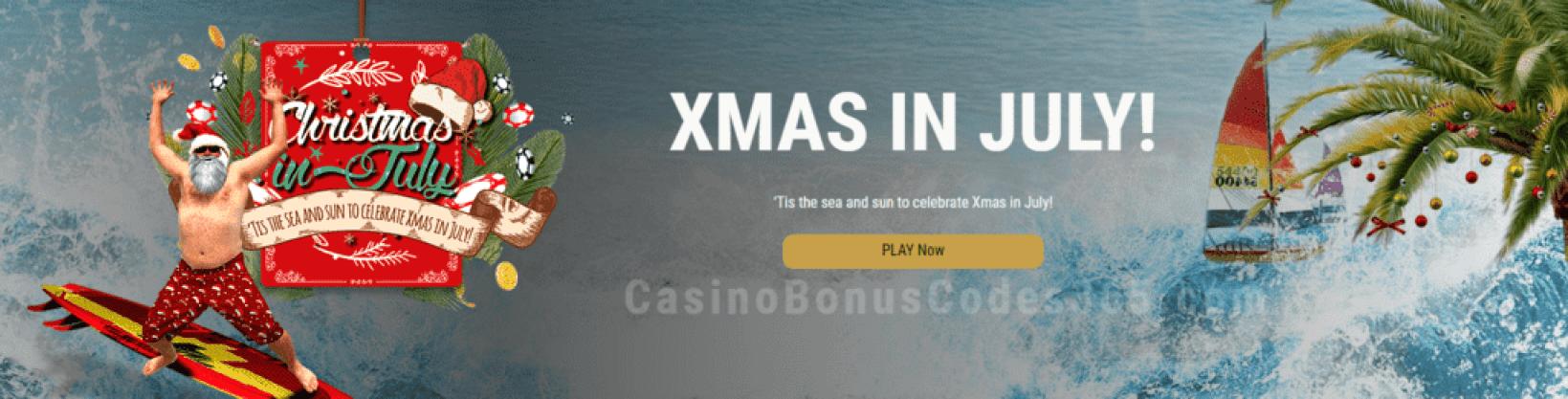 Grand Eagle Casino Xmas in July Special Promo