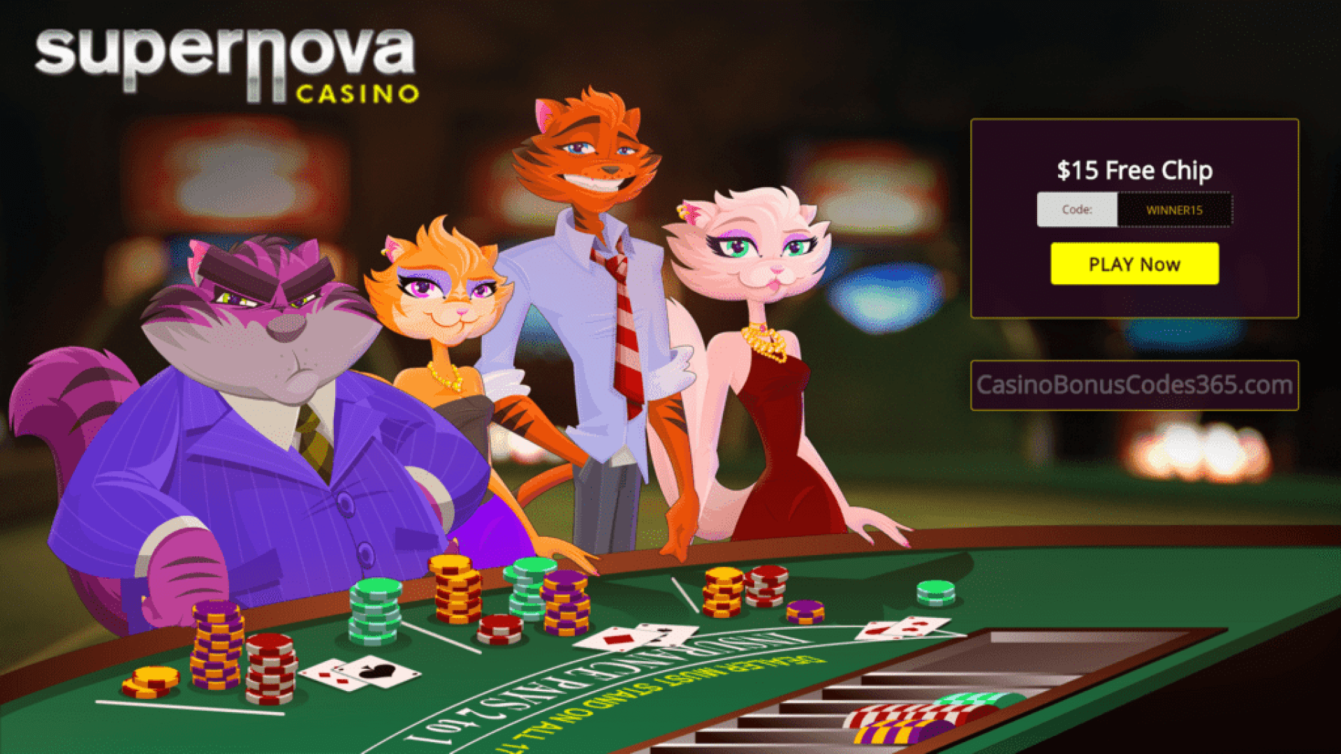 Supernova Casino $15 FREE Chip No Deposit Welcome Offer