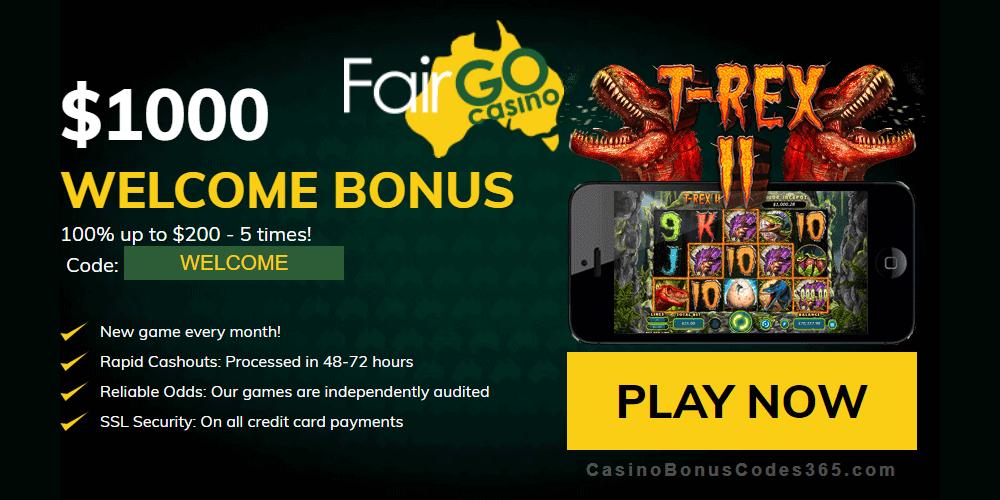 Fair Go Casino RTG T-Rex II