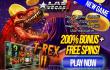 Las Vegas USA Casino 200% Bonus plus FREE Spins New RTG Game T-Rex II Special Bonus