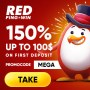 RED PingWin Casino 150% up to $100 First Deposit Bonus