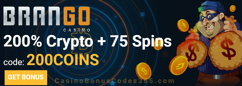 Casino Brango 200% plus 75 FREE Spins Crypto Bonus