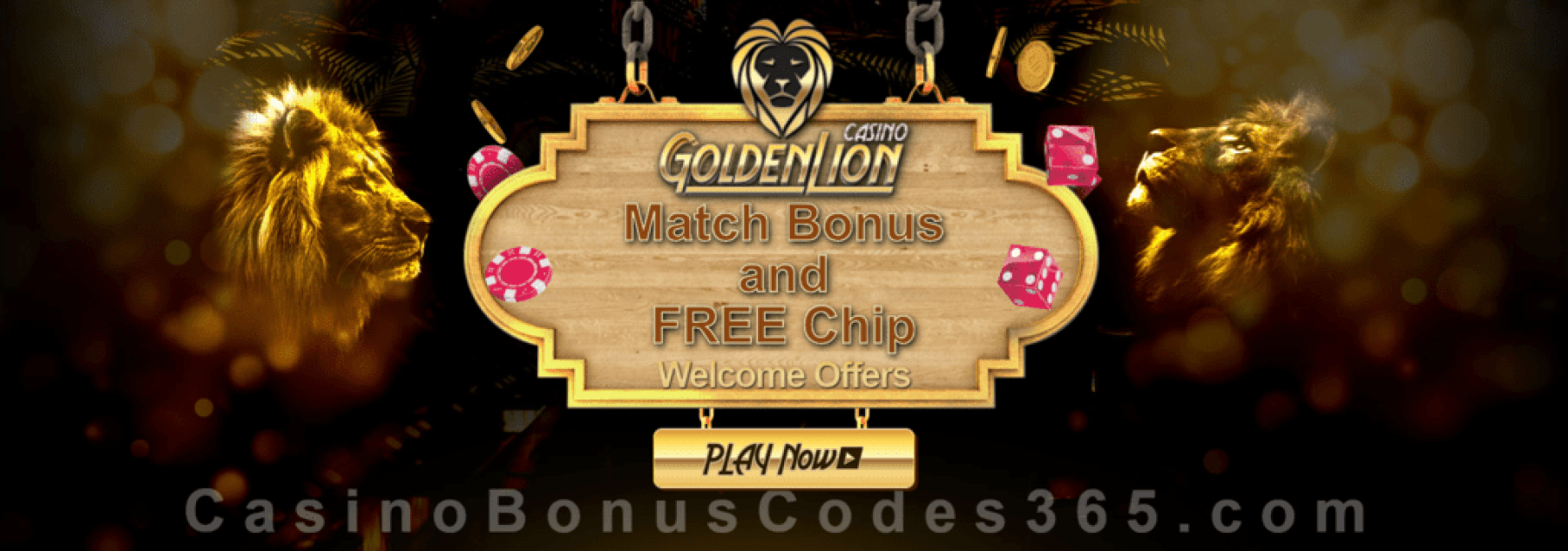 Golden Lion Casino Daily Exclusive Welcome Bonus