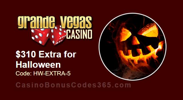 Grande Vegas Casino $310 Extra Halloween Chip RTG Ghost Ship