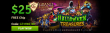 Grand Fortune Casino New RTG Game Halloween Treasures $25 FREE Chip Special Offer