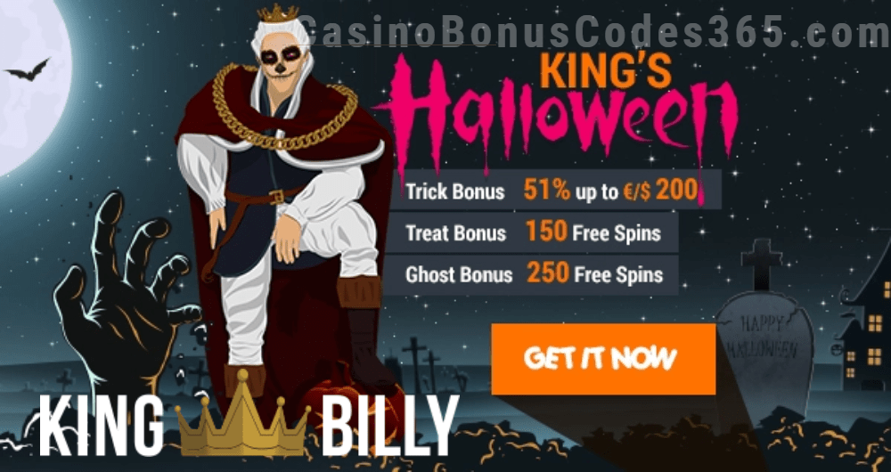 King Billy Casino King's Halloween Ghost Bonuses