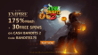 Slots Empire 175% Match Bonus plus 30 FREE Spins on RTG Cash Bandits 2 Welcome Deal