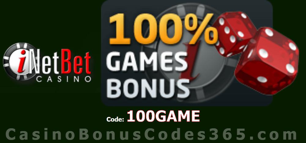 iNetBet Casino 100% New Player Bonus