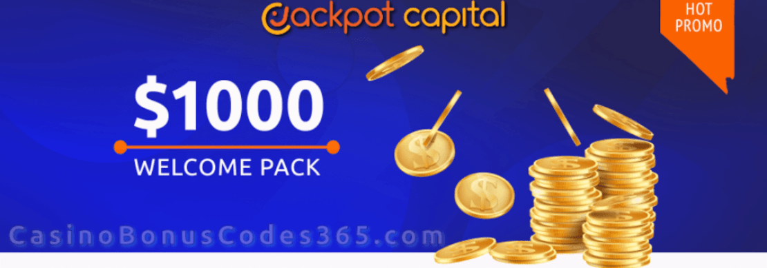 Jackpot Capital $1000 Bonus plus 100 FREE Spins Welcome Pack