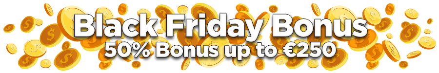OmniSlots Black Friday Bonus 50% Bonus up to €250