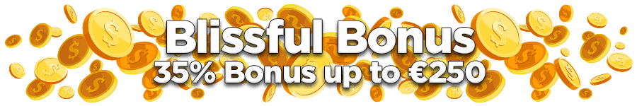 OmniSlots Blissful 35% Match Bonus up to €250