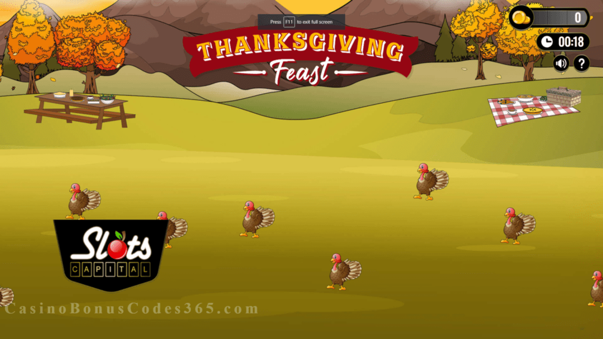 Slots Capital Online Casino Thanksgiving Feast Special Promotion