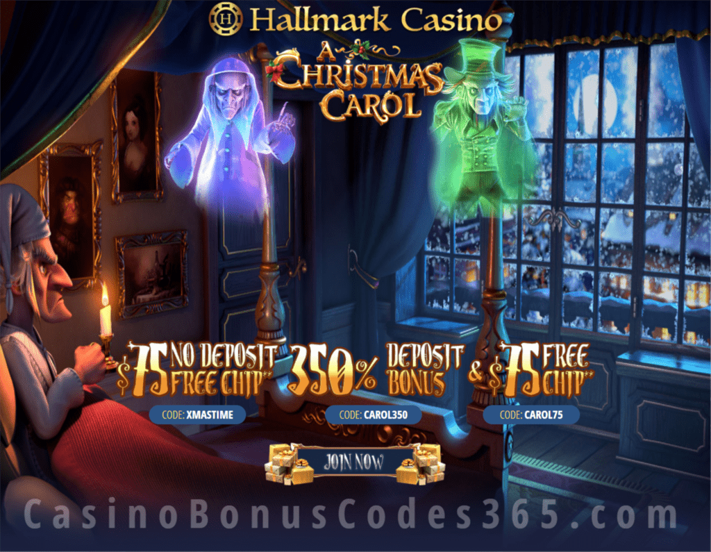 Hallmark Casino A Christmas Carol 150 Free Chip And 350 Match