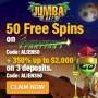 Jumba Bet 50 FREE Spins on Saucify Spartians plus 350% Match Welcome Bonus