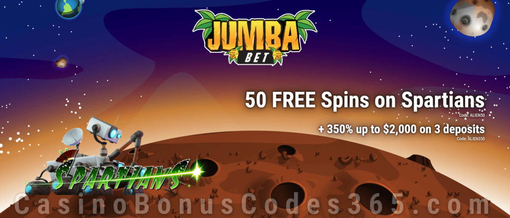 Jumba Bet 50 Free Spins On Spartians Plus 350 Match Welcome Bonus