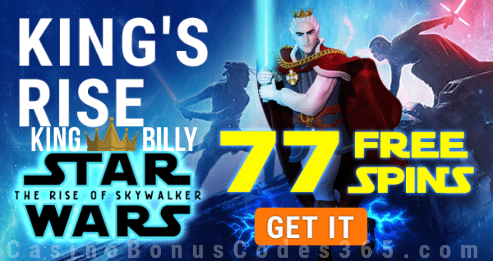 King Billy Casino Star Wars 77 FREE Spins