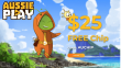 AussiePlay Casino $25 FREE Chip No Deposit New Players Offer