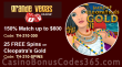 Grande Vegas Casino 150% up to $300 Bonus plus 25 FREE RTG RTG Cleopatra's Gold Spins Special Offer
