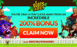 Slots Garden 200% Match Bonus plus 16 FREE Sweet 16 Spins on Top