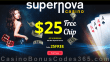 Supernova Casino $25 FREE Chip Welcome Deal