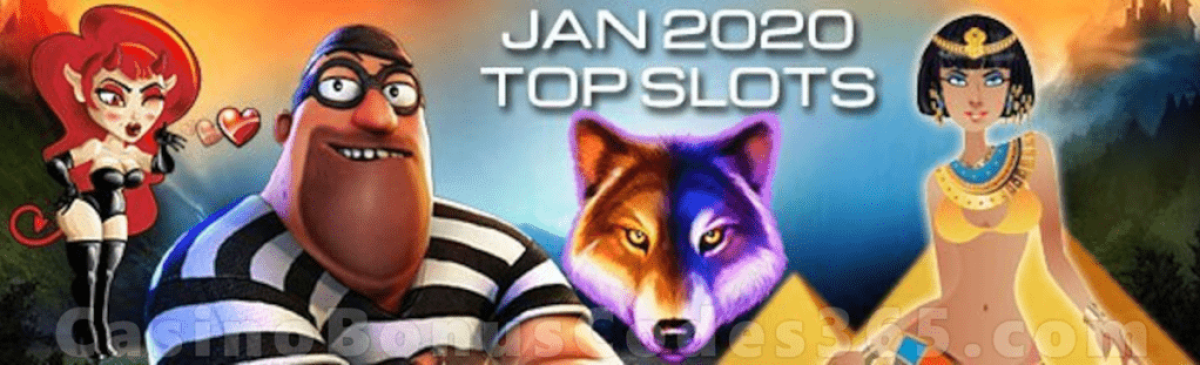 Top Slots in January 2020 by Spins