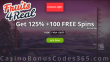 Fruits4Real Exclusive 125% Match plus 100 FREE Spins Welcome Bonus NetEnt Fruit Zen