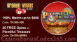 Grande Vegas Casino 150% up to $600 Bonus plus 25 FREE RTG Plentiful Treasure Spins on top Special Offer