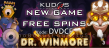Kudos Casino New RTG Game 40 FREE Dr. Winmore Spins Special Offer