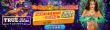 True Blue Casino 225% No Max Bonus plus 30 FREE RTG Samba Sunset Spins for Mardi Gras