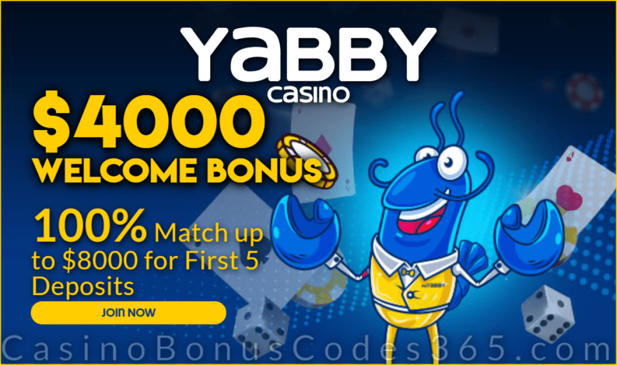 Yabby Casino $4000 Welcome Bonus