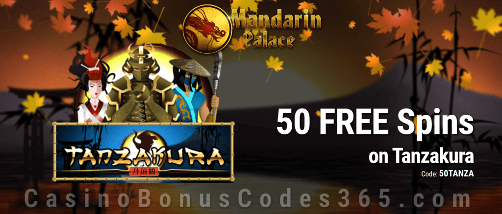 Mandarin Palace Online Casino 50 FREE Saucify Tanzakura Spins Exclusive Offer