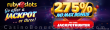 RubySlots Jackpot 275% No Max Bonus