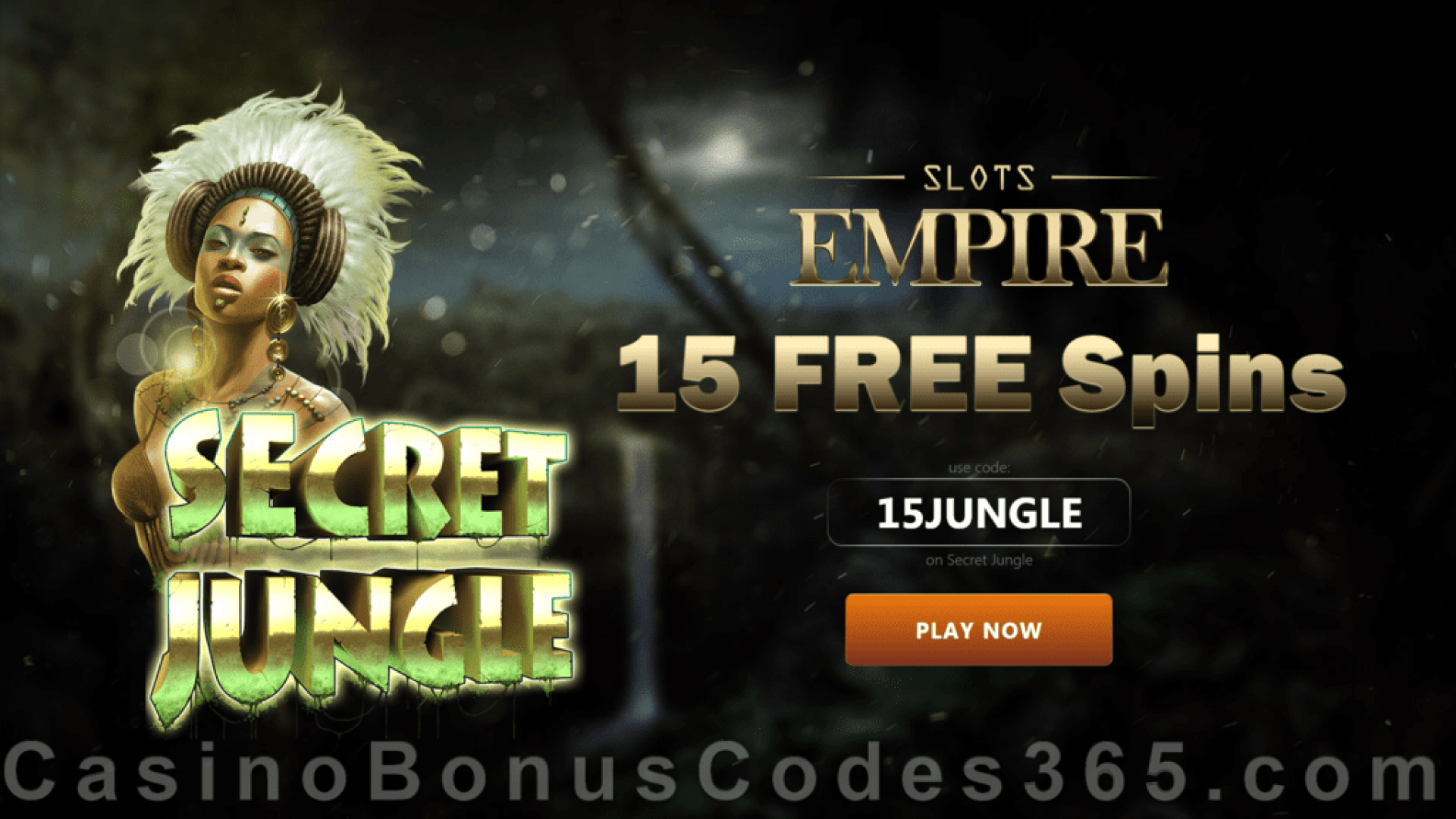 Slots Empire 15 FREE Spins on RTG Secret Jungle Special Welcome Offer