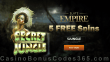 Slots Empire 5 FREE Spins on RTG Secret Jungle Special Welcome Offer