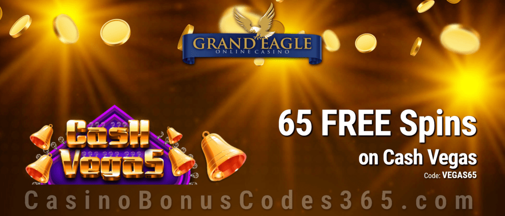 Grand Eagle Casino 59 FREE Saucify Cash Vegas Spins Special Offer