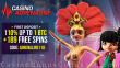 Casino Adrenaline 110% First Deposit Bonus plus 189 FREE Spins Welcome Pack