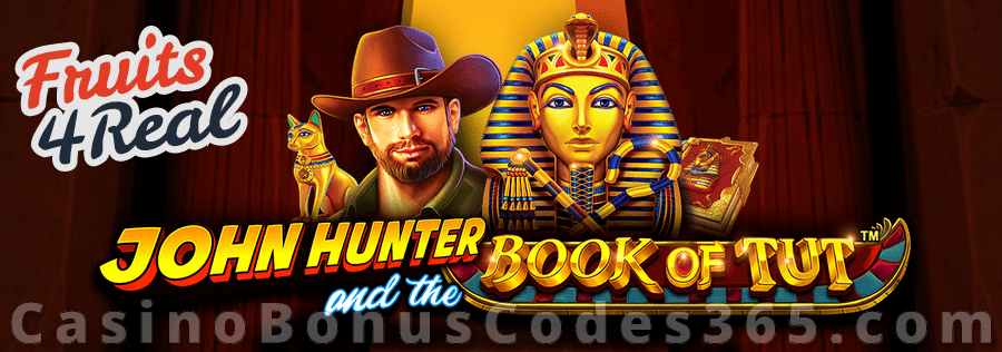 Fruits4Real FREE Spins on the new Pragmatic Play Game John Hunter and the Book of Tut