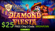 Grand Fortune Casino Diamond Fiesta $25 FREE Chip New RTG Game Special Offer