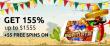 Jackpot Capital Cinco de Mayo Bonus Fiesta 155% Match plus 55 FREE Popiñata Spins